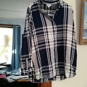 Plaid dress shirt...3 buttons pullover
